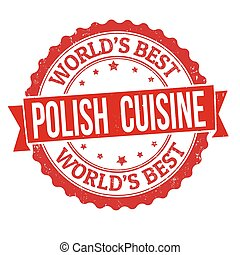 Polish cuisine grunge rubber stamp
