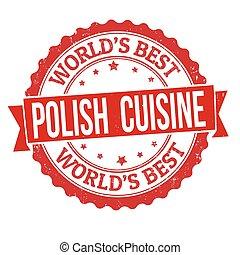 Polish cuisine grunge rubber stamp
