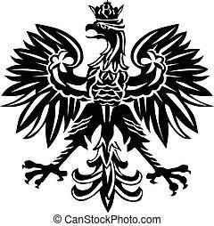 Polish eagle emblem - Polish national emblem as vector ...