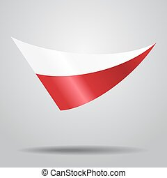 Polish flag background. Vector illustration.