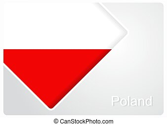 Polish flag design background. Vector illustration.