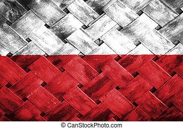 Polish flag , Polish flag on Weave Bamboo