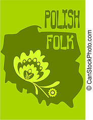Polish folk - vector illustration.