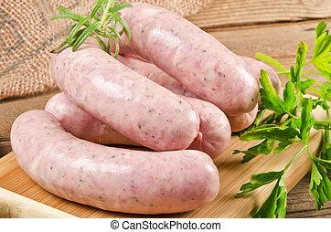 Polish home-baked veal sausage (Biala)