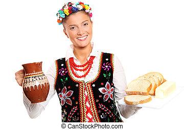 Polish hospitality - A portrait of a beautiful and...