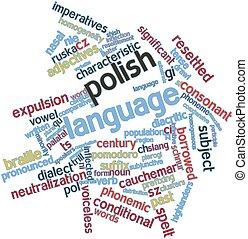 Polish language - Abstract word cloud for Polish language...