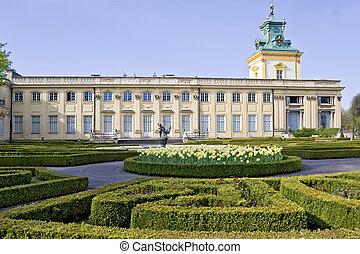 Polish palace Wilanow in Warsaw. Seat of king John III ...