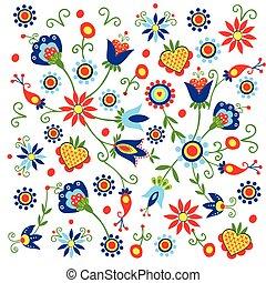 polish pattern folk Kaszuby