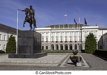 Polish Presidential Palace. - Presidential Palace in the...