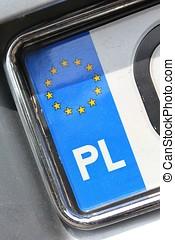 Polish registration plate