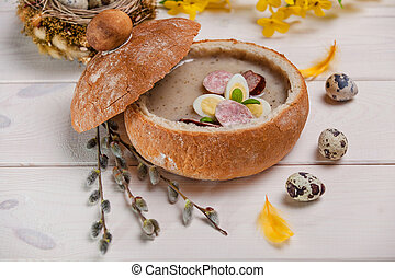 Polish soup made of fresh ingredients