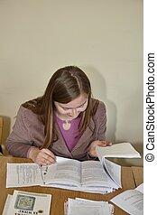 Polish students at final examination
