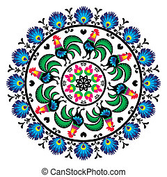 Polish traditional folk art pattern