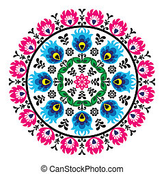 Polish traditional folk pattern - Decorative floral vector...