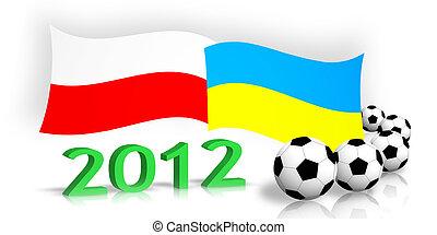 polish ukrainian flags balls 2012 number - polish &...