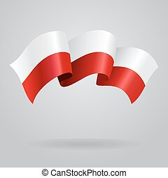 Polish waving Flag. Vector illustration