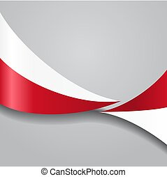 Polish wavy flag. Vector illustration.
