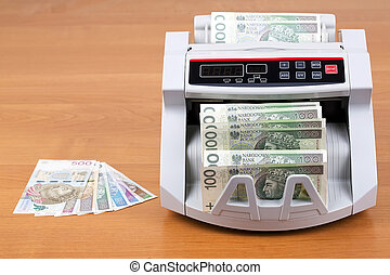 Polish Zloty in a counting machine