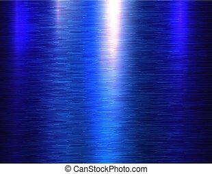 Polished blue metal texture background - Polished metal ...