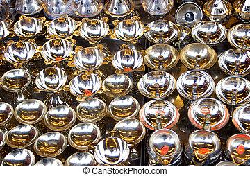 Polished Brass Lamp Pots