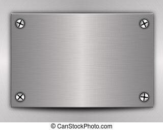 Polished metal plate steel