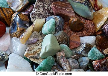 polished stones detail