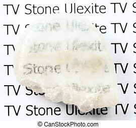 polished Ulexite (TV rock) natural mineral stone