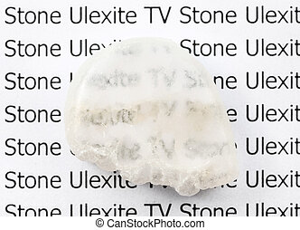 polished Ulexite (TV stone) mineral gemstone