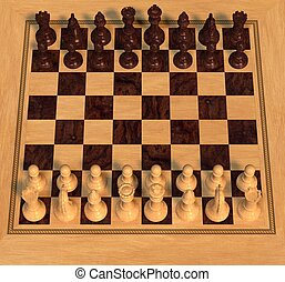 Polished Wood Chess Set