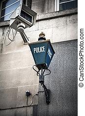 politi underskriv, og, kamera opsigt