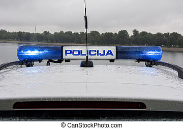 politi vogn, signal lyse