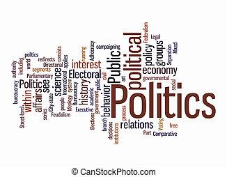 politic, palavra, nuvens