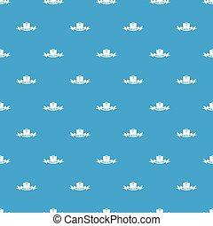 Politic pattern vector seamless blue