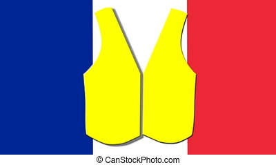 protests of people in yellow vests in France