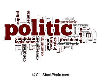 politic, woord, wolk