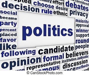 politica, disegno, manifesto