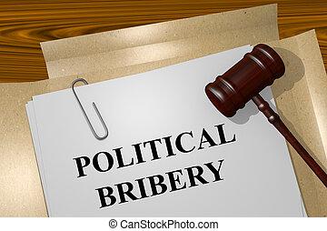 Political Bribery concept - Render illustration of Political...