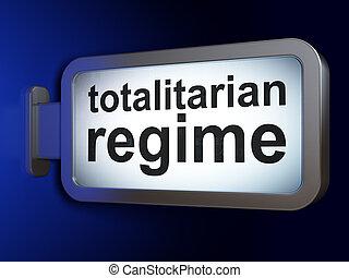 Political concept: Totalitarian Regime on billboard...
