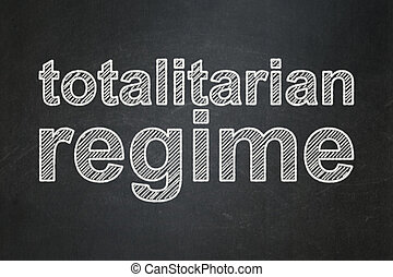Political concept: Totalitarian Regime on chalkboard...