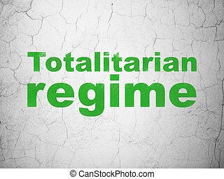 Political concept: Totalitarian Regime on wall background -...