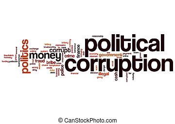 Political corruption word cloud
