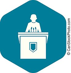 Political election speaker icon, simple style - Political...