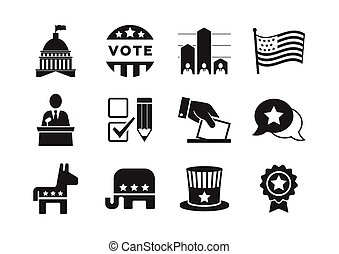 Political icons set for infographics