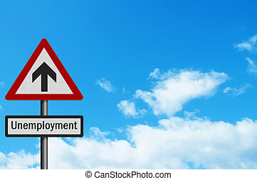 Political issue: \\\'sky high unemployment\\\' concept....