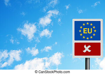 Political issues series: \\\'No to the EU\\\' concept