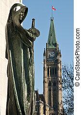 Political Justice - The canadian Parliament Centre Block...