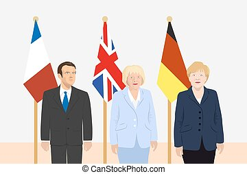 Political leaders theme - 03.12.2017 Editorial illustration ...