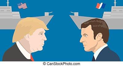 Political leaders topic - 02.12.2017 Editorial illiustration...