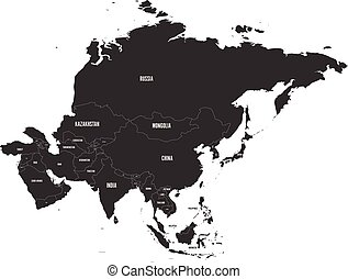 Political map of Asia. Vector illustration.