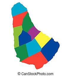 Political map of Barbados